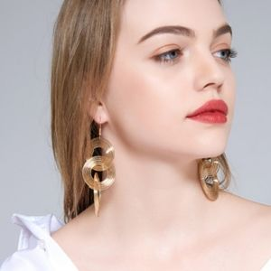 FREE with bundle, gold spiral statement earrings